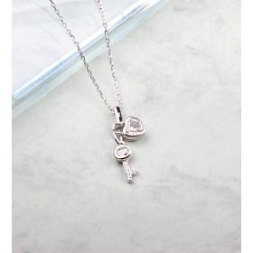 eJOYA Zircone Taşlı Gümüş Kilit Kolye 84837
