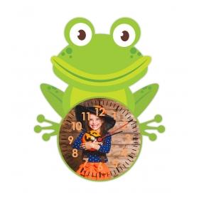 eJOYA Kişiye Özel Şirin Kurbağa Çocuk Duvar Saati 84929