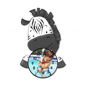eJOYA Kişiye Özel Şirin Zebra Çocuk Duvar Saati 84932