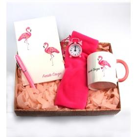 eJOYA Kişiye Özel Şanslı Flamingo Hediye Seti 84933