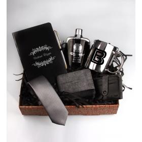 eJOYA Kişiye Özel Black Silver Hediye Paketi 85169
