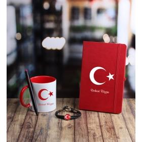 eJOYA Kişiye Özel Türk Bayrağı Temalı Hediye Seti 85243