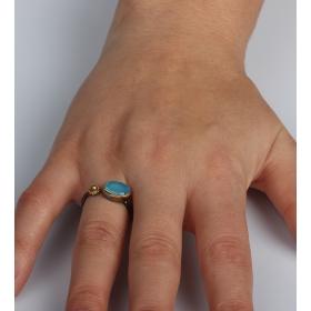 eJOYA Blue Topaz Gümüş Yüzük 85387