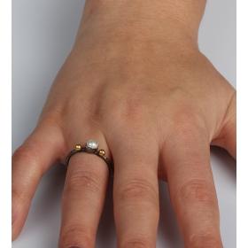 eJOYA Doğal İnci Taşlı Gümüş Yüzük 85392