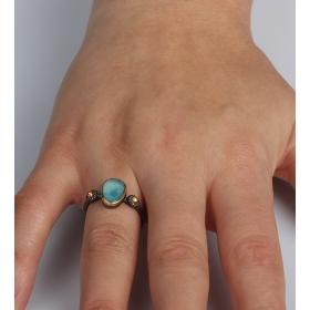 eJOYA Blue Topaz Taşlı Gümüş Yüzük 85394