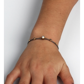 eJOYA Doğal İnci Taşlı Gümüş Bileklik 85398
