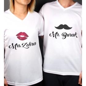 eJOYA Kişiye Özel Çift Kadın Erkek Tshirt 86321