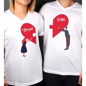 eJOYA Kişiye Özel Çift Kadın Erkek Tshirt 86415