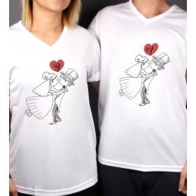 eJOYA Kişiye Özel Çift Kadın Erkek Tshirt 86430