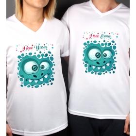 eJOYA Kişiye Özel Çift Kadın Erkek Tshirt 86439