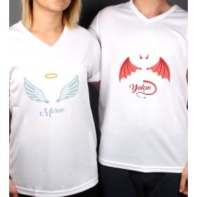 eJOYA Kişiye Özel Çift Kadın Erkek Tshirt 86443