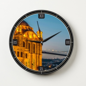 Ejoya Manzaralı Dekoratif Duvar Saati 86590