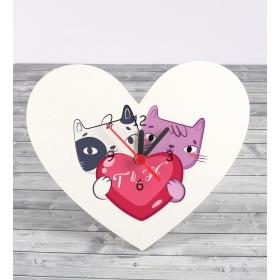 Kişiye Özel Kalp Masa Saati 86921