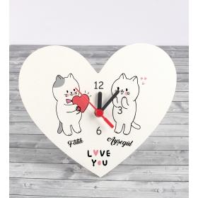 Kişiye Özel Kalp Masa Saati 86924