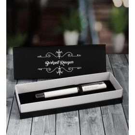 eJOYA Kişiye Özel Beyaz Metal Roller Kalem 87009