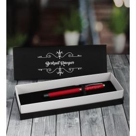 eJOYA Kişiye Özel Kırmızı Rubber Roller Kalem 87010