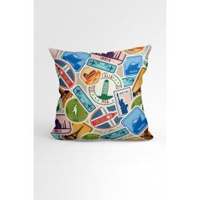 eJOYA Cities Özel Tasarımlı Modern Dekoratif Yastık Kırlent Kılıfı 88068