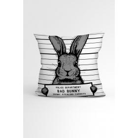 eJOYA Tavşanlı Özel Tasarımlı Modern Dekoratif Yastık Kırlent Kılıfı 88429