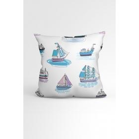 eJOYA Yelkenli Özel Tasarımlı Modern Dekoratif Yastık Kırlent Kılıfı 88435
