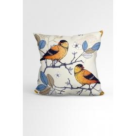 eJOYA Kuşlar Özel Tasarımlı Modern Dekoratif Yastık Kırlent Kılıfı 88442