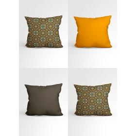 eJOYA Özel Tasarımlı Dekoratif 4lü Yastık Kırlent Kılıfı Seti 88834
