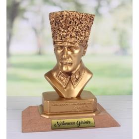 eJOYA Kişiye Özel Mesajlı Masaüstü Atatürk Büst 89776