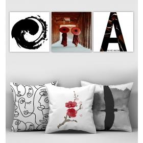 eJOYA Özel Tasarımlı Dekoratif 3lü Kırlent Kılıfı ve Tablo Seti 90330