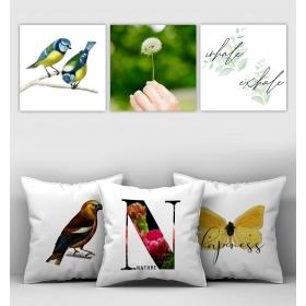 eJOYA Özel Tasarımlı Dekoratif 3lü Kırlent Kılıfı ve Tablo Seti 90337
