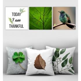 eJOYA Özel Tasarımlı Dekoratif 3lü Kırlent Kılıfı ve Saatli Tablo Seti 90370