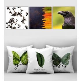 eJOYA Özel Tasarımlı Dekoratif 3lü Kırlent Kılıfı ve Tablo Seti 90396