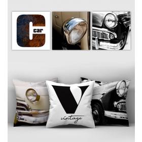 eJOYA Özel Tasarımlı Dekoratif 3lü Kırlent Kılıfı ve Tablo Seti 90413