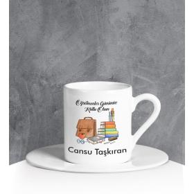 eJOYA Kişiye Özel Öğretmenler Günü Türk Kahvesi Fincanı 90673