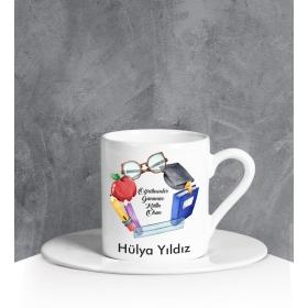 eJOYA Kişiye Özel Öğretmenler Günü Türk Kahvesi Fincanı 90674