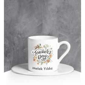 eJOYA Kişiye Özel Teachers Day Türk Kahvesi Fincanı 90675