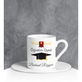 eJOYA Kişiye Özel Öğretim Üyesi Türk Kahvesi Fincanı 90694