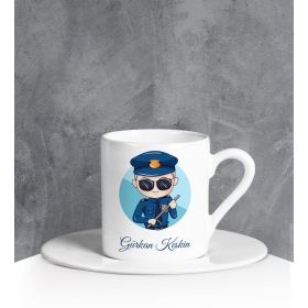 eJOYA Kişiye Özel Polis Türk Kahvesi Fincanı 90706