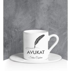eJOYA Kişiye Özel Avukat Türk Kahvesi Fincanı 90707