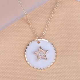 eJOYA Beyaz Yıldız Çember Kolye 90894