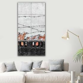 eJOYA Modern Tasarım Tel Örgü Kanvas Tablo 60 x 120 cm 91140