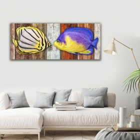 Ejoya Balık Yatay Kanvas Tablo 40 x 100 cm 93213