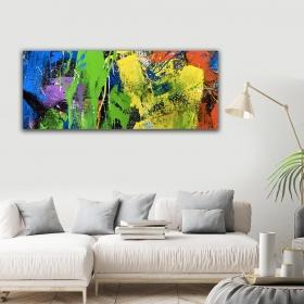 Ejoya Rengarenk Yatay Kanvas Tablo 40 x 100 cm 93220