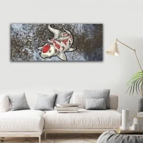 Ejoya Balık Yatay Kanvas Tablo 40 x 100 cm 93225