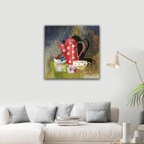 eJOYA Modern Tasarım Çay Kanvas Tablo 50 x 60 cm 93354