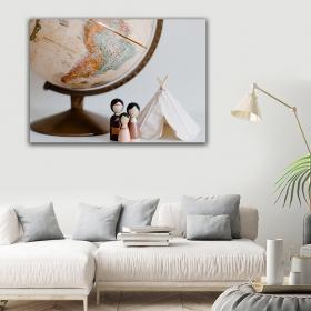 Ejoya Dünya Kanvas Tablo 150 x 100 cm 93782