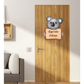 Ejoya Kişiye Özel Odası Koala Kapı Süsü 93926