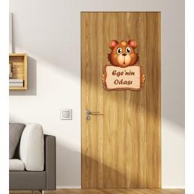 Ejoya Kişiye Özel Odası Şaşkın Kapı Süsü 93927