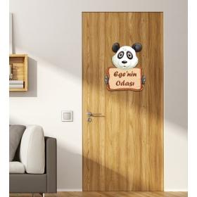 Ejoya Kişiye Özel Odası Panda Kapı Süsü 93928