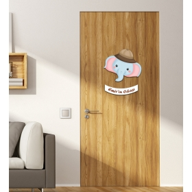 Ejoya Kişiye Özel Odası Fil Kapı Süsü 93932