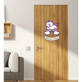 Ejoya Kişiye Özel Odası Kedi Kapı Süsü 93936