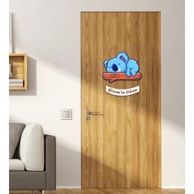 Ejoya Kişiye Özel Odası Uyuyan Koala Kapı Süsü 93939